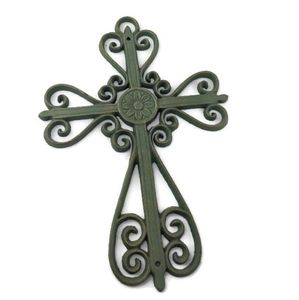 Metal Scrollwork Cross